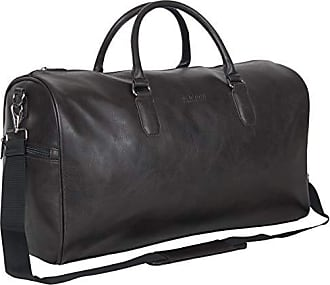 Kenneth Cole Reaction Kenneth Cole Reaction Faux Leather Top Zip Travel Duffel Bag Brown One Size