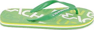 Urban Beach Mens Logo FW548 Beach Sandals Flip Flops Shoes (Size 9, Green)