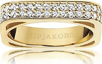 Sif Jakobs Jewellery Ring Matera - 18k gold plated with white zirconia
