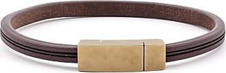 Scottsberry Mörkbrun Läderarmband 5mm | Klassisk | Borstat Guld