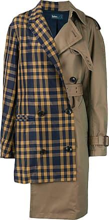 Kolor contrast panel trench coat - Brown