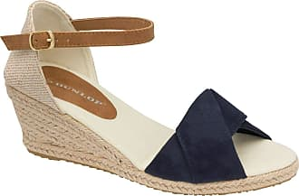 Dunlop DLC131 Rana Ladies Closed Toe, Classic Espadrilles Wedge Heel (Cleo Navy, 5)