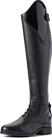 Ariat Womens Heritage Contour II Ellipse Tall Riding Boots in Black Patent, B Medium Width, Short Height, Regular Calf, Size 5, by Ariat