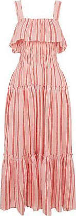 Three Graces London Loretta Dress in Red/Rosa Stripe