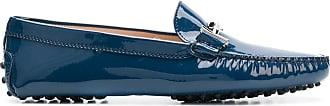 Tod's Mocassim Gommino de couro envernizado - Azul