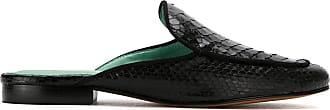 Blue Bird Shoes Mule Exótico de couro python - Preto
