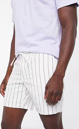 Topman Shorts zum Überziehen in Schwarz/Weiß gestreift