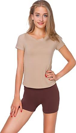FUTURO FASHION Super Soft Cotton Shorts Elastic Stretch Yoga Knickers UK 8-22 PSL5 Brown