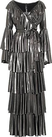 Norma Kamali Ruffled lamé maxi dress