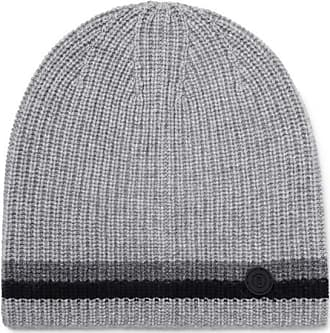 7339678d82 Bogner Matteo Striped Ribbed Cashmere Beanie - Gray