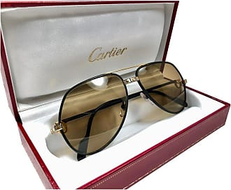c1fb533d250 Cartier Rare Vintage Cartier Santos Screws Leather Edition 59mm 18k  Sunglasses France