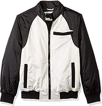 Urban Republic Mens Heavy Poly Satin Jacket, Fog Grey, L