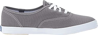 Keds Womens Champion Original Canvas Lace-Up Sneaker, Grey, 9.5 Wide