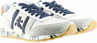 Premiata Sneakers in suede e canvas grigio bianco 40