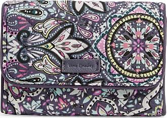 Vera Bradley Womens Signature Cotton RFID Riley Compact Wallet, Bonbon Medallion, One Size