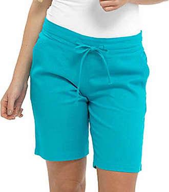 Tom Franks Ladies Womens Tom Franks Casual Linen Shorts Trouser Summer LN564 (12, Turqoise)