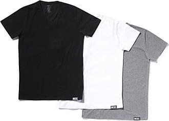 Tommy Hilfiger 3er-pack Weiß Grau Blau Enge Passform V-Ausschnitt T-Shirt Nwt