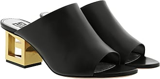 Givenchy Loafers & Slippers - Gold G Heel Mules Leather Black - black - Loafers & Slippers for ladies