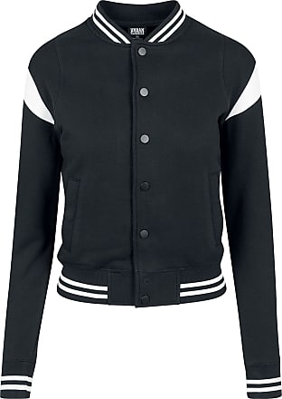 wholesale dealer 3a888 4814f Urban Classics Ladies Inset College Sweat Jacket - Collegejacke -  schwarzweiß