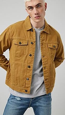 21 Men Button-Front Denim Jacket at Forever 21 Khaki