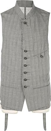 Ziggy Chen plaid waistcoat - Grey