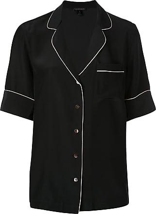 Kiki De Montparnasse Camisa de pijama de seda - Preto