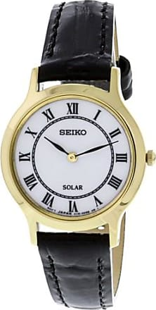 Seiko Womens SUP304 Gold Leather Japanese Quartz Fashion Watch