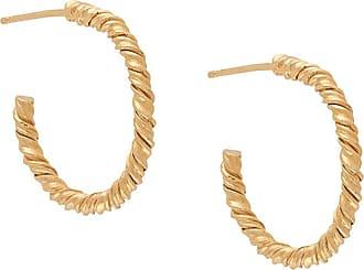 Natalie Perry Jewellery Par de brincos de argolas - Dourado