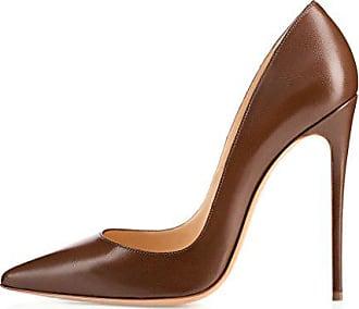15b6ff234512ac EDEFS Damenschuhe Faschion SUKaite 120mm Spitzschuh klassische Partei dünne Pumps  Stiletto Schuhe Chocolate EU41
