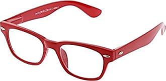 Peepers Womens Clark - Red 2489000 Square Reading Glasses, Red +0.00