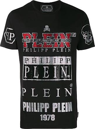 Philipp Plein T-shirt con borchie - Di colore nero