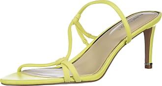 Kenneth Cole Womens Tubular Strap Sandal, Heeled Sandal Size: 4.5 UK Lemon