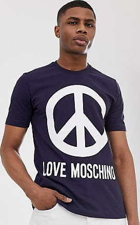 Love Moschino peace logo t-shirt-Navy