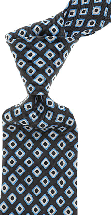 Ermenegildo Zegna Ties On Sale, Dark Avio Blue, Silk, 2017, one size