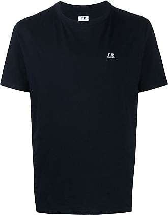 C.P. Company Camiseta gola redonda com estampa de logo - Azul