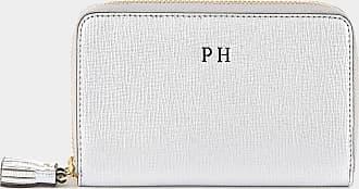 Anya Hindmarch Bespoke Double-Zip Wallet Metallic Capra in Silver