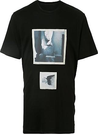 Julius Camiseta decote careca com estampa - Preto