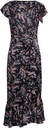 a59b1a60c5cb Cinq à Sept Cinq À Sept Woman Ruched Floral-print Silk-satin Midi Dress