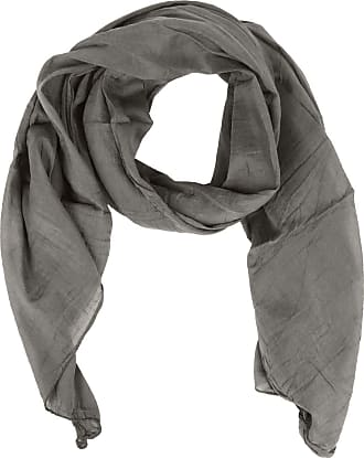Zwillingsherz silk scarf for women, girls, plain elegant accessory/cotton/silk scarf/neck scarf/shoulder scarf or shawl. - Grey - One size