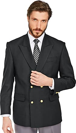 Chums Mens Double Breasted Oxford Blazer Black 46