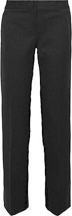 Elie Tahari Elie Tahari Woman Leena Embroidered Cotton-blend Ponte Straight-leg Pants Anthracite Size 0