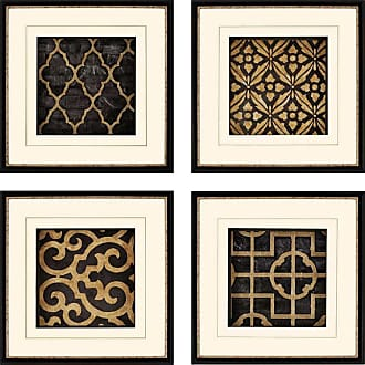 Paragon Picture Gallery Ebony Framed Wall Art - Set of 4 - 7708
