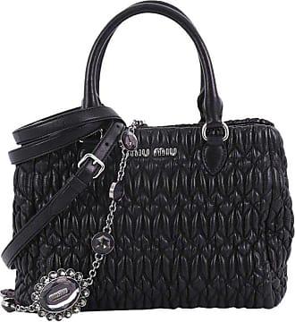 7b1744b836f Miu Miu Miu Miu Crystal Convertible Tote Matelasse Leather Mini