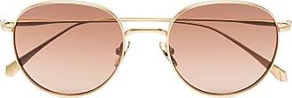Kaleos Óculos de sol redondo Woodcock dourado