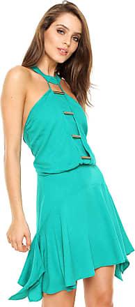 Triton Vestido Triton Curto Blusê Verde
