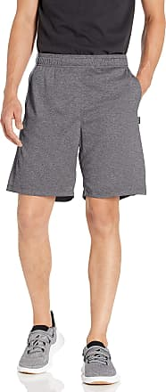 Jockey Mens Active Quick Dry Mesh Short, Charcoal Heather-02000, Medium