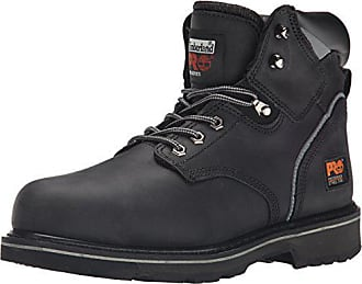 Timberland PRO Mens Pitboss 6 Steel-Toe Boot, Black, 9.5 EE - Wide