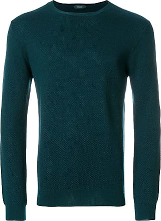 Zanone long sleeved sweater - Green