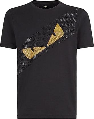 Fendi Camiseta Bag Bugs com detalhe de cristal - Preto