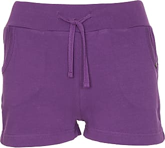 Noroze Womens Casual Summer Holiday Cotton Shorts (Purple, 16)